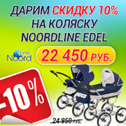 Детская универсальная польская коляска Noordline Edel 2в1