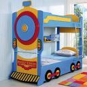 Детская двухъярусная кровать Milli Train (Паровоз)