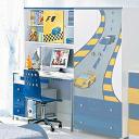 Стол письменный с надставкой Milli Willi F1 Blue
